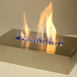 """Ethanol Burner """"EB1400"""" - The Ethanol Burner """"EB1400"""" Insert offers the tried-and-tested architecture and great features. This 3.0 Liter burner is a stainless steel burner has a 3/8 lip for drop in installation. It offers ultimate flexibility due to its modular design which presents you with the opportunity to create an open fire just about anywhere!"""