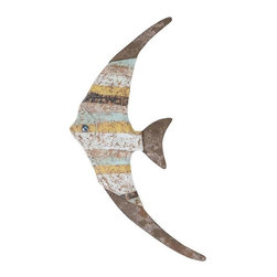 Benzara - Wood Fish Wall Decor with Beautiful Fish Styled Design - Wood Fish Wall Decor with Beautiful Fish Styled Design. Perfect for casual setups, this wood Fish wall decor adds a charming look to settings with its attractive design. With its lightweight design this wall decor piece allows for hassle-free installation anywhere at home.
