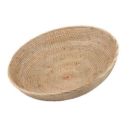 Brilliant Imports - Shallow Fruit Bowl - A blend of rattan with ate grass-- a popular technique with Balinese master weavers-- makes this shallow bowl both sturdy and pretty.  The perfect size to hold your fruits & veggies.