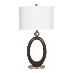 """Signature Design by Ashley - 30"""" Set of 2 Meckenzie Table Lamps - A set of two modern brown and silver table lamps from Famous Brand Lighting"""