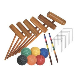 Franklin Sports Expert 6-Player Croquet Set - Perfect for family-friendly entertainment in the grass, this croquet set is a classic must-have for kids of all ages.