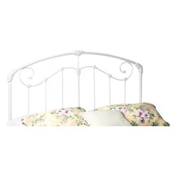 Hillsdale Furniture - Hillsdale Maddie Panel Headboard with Rails - King - A lightly scaled, Victorian styled bed that marries interesting scroll work with vivid castings. Perfect for the little girls first bed.