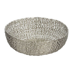 "Lazy Susan - Lazy Susan LZS-559005 Twisted Wire Bowl - Medium - Here's a twist that'll make you want to shout, ""Hooray!"" Nickel-finished iron wire is twisted and woven into a bowl shape that looks great on its own or filled with fruit or decorative items. It's available in three sizes, so you can twist again and again."
