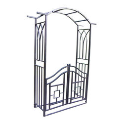 Oakland Living - Oakland Living Royal Arbor with Gate in Black - Oakland Living - Arbors - 5023BK - About This Product: