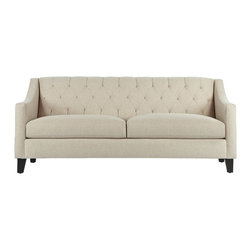 """Apt2B - The Jackson Apt. Size Sofa, Sand, 53"""" X 36"""" X 32"""" - The Jackson brings some much needed romance into any space. The rolled back with detailed tufting and swoop arms gives really interesting lines to a boxy room and can be that star every home needs."""