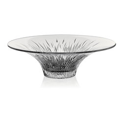 "Lorren Home Trends - RCR Fire Crystal Centerpiece, by Lorren Home Trends. - RCR Fire Collection features a unique flammed cut design angled perfectly to create a sophisticated and edgy look.  Made in the Tuscan region of Italy, this lead free crystal is a perfect addition to any table style or décor.  This centerpiece measures 12.5"" x 12.5"" x 4"""