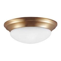 Sea Gull Lighting - Sea Gull Lighting 79434BLE Nash 1 Light Energy Star Flush Mount Ceiling Fixture - Features: