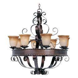 Maxim Lighting - Maxim Lighting 20610VAOI Aspen Oil Rubbed Bronze 8 Light Chandelier - 8 Bulbs, Bulb Type: 100 Watt Incandescent