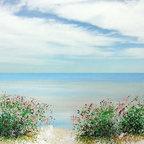 Beach Ocean Decor artwork - Coastal ocean beach painting print by Francine Bradette