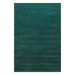 Rugsville - Rugsville Rug Textured  Sari Silk 13706-46 Green - Rugsville New Textured Sari silk rug collection made from recycled sari silk, a perfect bedroom idea. The carpet is handcrafted by artisans using handspun recycled vintage Sari silk and a unique weaving technique to create the luxurious silk construction.