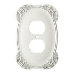 Liberty Hardware - Liberty Hardware 144394 Arboresque WP Collection 3.59 Inch Switch Plate - White - A simple change can make a huge impact on the look and feel of any room. Change out your old wall plates and give any room a brand new feel. Experience the look of a quality Liberty Hardware wall plate.. Width - 3.59 Inch,Height - 5.43 Inch,Projection - 0.24 Inch,Finish - White Antique,Weight - 0.33 Lbs