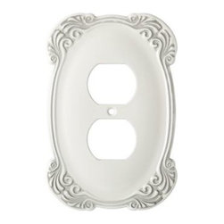 Liberty Hardware - Liberty Hardware 144394 Arboresque WP Collection 3.59 Inch Switch Plate - White - A simple change can make a huge impact on the look and feel of any room. Change out your old wall plates and give any room a brand new feel. Experience the look of a quality Liberty Hardware wall plate. Width - 3.59 Inch, Height - 5.43 Inch, Projection - 0.24 Inch, Finish - White Antique, Weight - 0.33 Lbs.