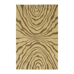 Surya - Studio SR113 Wool Rug in Beige and Caramel Zebra Stripe Pattern - Choose Size: 2 ft. 6 in. x 8 ft. Runner. Hand-tufted. Made in India. 100% New Zealand Wool