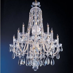 Crystorama Lighting Group - Traditional Crystal Swarovski Strass Crystal Polished Brass Five-Light Chandelie - Traditional crystal chandeliers are classic timeless and elegant. Crystorama's opulent glass arm chandeliers are nothing short of spectacular. This collection is offered in a variety of crystal grades to fit any budget. For a touch of class order this collection in Gold for traditionalists or in Chrome to match your contemporary or transitional decor.  -Primary Material: Steel  -Crystal: Swarovski Strass  -Chain or Rod Length: 36inches  -Wire Length: 72inches Crystorama Lighting Group - 1110-PB-CL-S