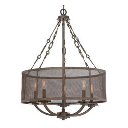 Screened-In Industrial Shade Chandelier -