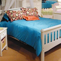 Bolton Furniture - Mission Full Bed w Nightstand in White Finish - Includes Mission full headboard, footboard, birch side rail set and Wakefield nightstand. ASTM certified. Made of solid birch hardwoods and veneers. 58 in. W x 79 in. D x 39 in. H. Nightstand:. 1 Drawer. Beaded side panels. Classic framed drawer fronts. Dovetailed drawers and self-closing under mount glides. Made of solid birch hardwoods & veneers. 20 in. W x 19 in. D x 25 in. H. White finish. Assembly required. 1-Year warranty