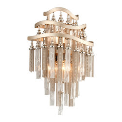 Corbett Lighting - Corbett Lighting 176-13 Chimera Tranquility Silver Wall Sconce - Corbett Lighting 176-13 Chimera Tranquility Silver Wall Sconce