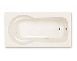 Spa World Corp - Atlantis Tubs 3260ZWR Zepher 32x60x23 Inch Rectangular Whirlpool Jetted Bathtub - The Zepher is uniquely designed as a body envelope which soothingly contours your back and arms using the side arm rests. The Zepher accommodates your needs for comfort and durability while still maintaining a practical size, making installation a breeze. Sit back, relax, and embark on the massaging jets, an spa like feeling in your home.