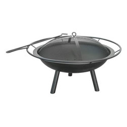 """Landmann - The Halo Steel Fire Pit - The Halo Fire Pit from Landsman USA features a 28.5"""" Steel bowl ring and poker and is designed for easy assembly. It has a full diameter handle and offers a 369 degree view of the fire. 28.5"""" L x 28.5"""" W x 17"""" H 16 lbs. This item cannot be shipped to APO/FPO addresses. Please accept our apologies."""