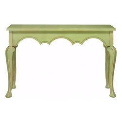 Home Decorators Collection - Keys Console Table - With a design that features gracefully curving trim, cabriole legs and a wide, convenient top, the Keys Console Table will make a wonderful accent to any space. With its high-quality construction, this living room furniture will last for years of use whether you use it in your entryway as a hall table, against the back of your sofa or in your dining room as an original take on the standard buffet. Place your order today and enjoy the lasting, timeless style of this piece. Crafted of top-quality materials for lasting beauty and durability. Your choice of antique finish completes the look.