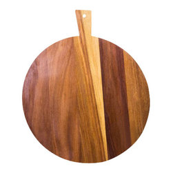 """Mahogany Cutting Board - Lovely Mahogany wood cutting board round shape Diameter 18 3/4"""" ; 3/4"""" thick with slightly eased edge and wood oriented horizontal along the grain for maximum resistance for stains, water or warping."""