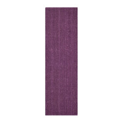 Safavieh - Safavieh Natural Fiber Rug with Purple X-82-B744FN - Hand-woven with natural fibers, this casual area rug is innately soft and durable. This densely woven rug will add a warm accent and feel to any home.