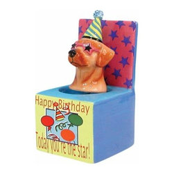 WL - 4 Inch Happy Birthday Today You're a Star Puppy in Box Bobble Figurine - This gorgeous 4 Inch Happy Birthday Today You're a Star Puppy in Box Bobble Figurine has the finest details and highest quality you will find anywhere! 4 Inch Happy Birthday Today You're a Star Puppy in Box Bobble Figurine is truly remarkable.