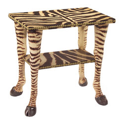 John Richard - John Richard Eugene Zebra Table EUR-03-0414 - From Florence de Dampierre: Animal prints of all sorts are a favorite of mine. I love the whimsy and shape of the Eugene. It can go anywhere!.