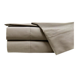 1000 Thread Count 100% Cotton 4-piece Sheet Set Cal King Linen - Sleep like a baby with these luxuriously comfortable 1000 thread count sheets, crafted with a rich Egyptian cotton and polyester blend. Available in several neutral colors, these sheets and pillowcases are accented with a double-hole hem design.