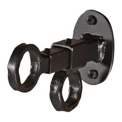 Stone County Ironworks - Curtain Drop Down Bracket (Natural Black) - Finish: Natural Black. Fits 1 in. diameter curtain rods. Adjusts to add additional 2.5 in.. Made from iron. Weight: 1 lb.