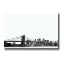 "PosterEnvy - Brooklyn Bridge New York City Travel Art Print - 12"" x 18"" Poster on heavy 80 lb Satin durable paper."