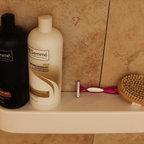 Bathroom Niche & Shelf Store - Round end shower shelf. Me