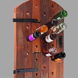 reclaimed wood wine rack -