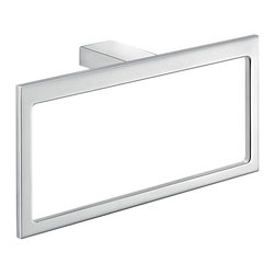 Gedy - Rectangular Wall Mounted Polished ChromeTowel Ring - Manufactured in Italy by Gedy, this luxury wall mounted towel holder fits perfectly into any contemporary or modern bathroom setting.