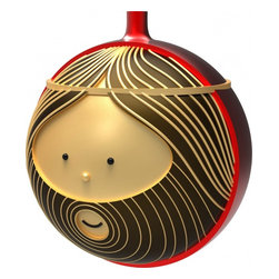 "Alessi - Alessi ""Giuseppe"" Christmas Bauble - Respect the beard. Joseph has an amazing technicolor coat of red on the outside and textural brown, tan and black facial features. This hirsute hermano is crafted from blown glass, is about 3.5-inches wide and comes ready to hang on your tree."