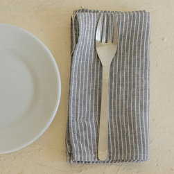 Napkin, Gray Thin White Stripe - I like to keep my tabletop neutral, with just a few pops of color here and there. These striped linen napkins are a bit more interesting than a solid but still allow for seasonal/color palette flexibility.