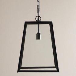 Four-Sided Glass Hanging Pendant Lantern -
