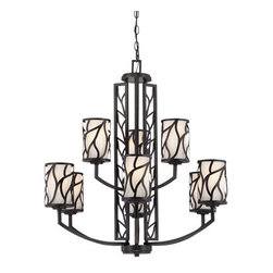 Designer Fountain - Modesto 9 Light Chandelier - 9 Light Chandelier
