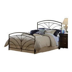 Hillsdale - Hillsdale Thompson Metal Panel Bed in Bronze-Queen - Hillsdale - Beds - 1568BQR - Hillsdale Furniture's Thompson bed boasts simple yet soft transitional design elements: gently curved spokes an effortless silhouette and unfettered round castings. Finished in a versatile bronze and constructed of heavy gauge tubular steel this bed is adaptable enough for any bedroom in your home. Minor assembly required.