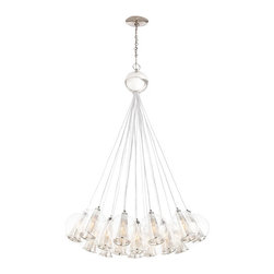 Arteriors Home - Arteriors Home Caviar Polished Nickel/Clear Glass Bouquet Chandelier - Drop this enchanting light from your ceiling and you'll think you've been blowing bubbles. Delicate glass spheres combine with threadlike polished nickel cords to give you an ethereal, romantic ambiance. This glass bouquet would look stunning in your foyer, dining room or living room. If you're very daring, hang one in your bath for an elegant, unusual design. You'll be forever blowing bubbles.