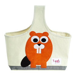Nursery Storage Caddy, Beaver - This versatile storage caddy can be used in the nursery for items like toiletries. When the little one gets older, it can be used as a tote bag. The caddy is made of organic canvas and eco-spun felt.