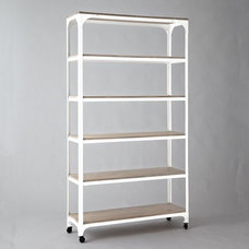 industrial bookcases by West Elm