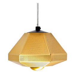 Tom Dixon - Tom Dixon Cell Short Pendant Light - Tom Dixon's Cell Pendant Lamp is a light that mimics cellular growth and can be used in multiple, geometric configurations. Each Cell is made from layers of minutely etched, polished brass filtering light rays to throw a satisfyingly dappled glow casting intricate shadows on walls, floors and ceilings. Cell is also available in a Tall version.
