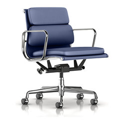 Eames Soft Pad Management Chair, Metallic Dream Cow Leather