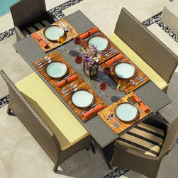 San Diego Outdoor Furniture - Malibu resin wicker dining collection by Northcape Int.