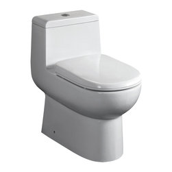 Whitehaus Collection - Whitehaus WHMFL3351-EB Magic Dual Siphonic Flush One Piece Toilet - The Whitehaus Collection Magic Flush features A+ grade china, 35-45mm thick. the dropway, or inner waste tube, of our toilets is fully glazed. This means 0% absorption – there is no where for bacteria to cling to and ensures cleaning to be much easier, resulting in a more hygienic water closet experience.