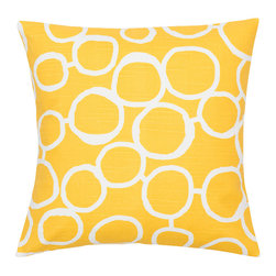Look Here Jane, LLC - Circles Yellow Pillow Cover - PILLOW COVER