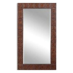 """Uttermost - Uttermost 13646 Adel Oversized Mirror In Bronze - This oversized mirror features a frame made of hand forged and hand hammered metal with a lightly distressed, burnished bronze finish with gold highlights. Mirror has a generous 1 1/4"""" bevel."""