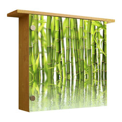 Ambiance Design - Light Up Wall Decor with Shelve, Light Wood - dd ambiance to any room with this illuminated wall box with ledge on top