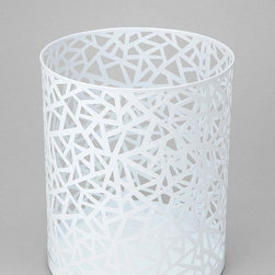 Geo Cutout Trash Can - Nest this trash can under some nesting tables for a modern yet functional touch.